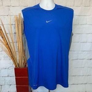 Nike Dri Fit Sleeveless Sport Shirt Tank Top Sz M